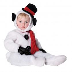 Fantasia Infantil Boneco de Neve Snow Man Natal Clássica