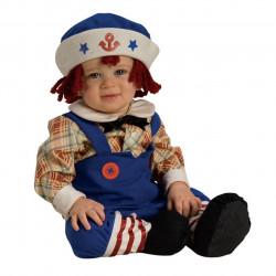 Fantasia Infantil Boneco de Pano Marinheiro Bebê