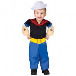 Fantasia Infantil Masculina Popeye Bebê