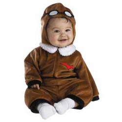 Fantasia Infantil Piloto Aviador Bebê