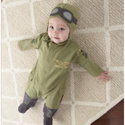 Fantasia Infantil Piloto Aviador Bebê Elite