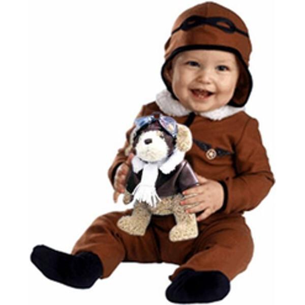 Fantasia Infantil Piloto Aviador Bebê Luxo