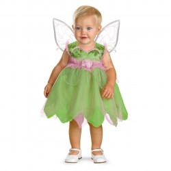 Fantasia Infantil Vestido da Sininho Luxo Bebê