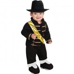 Fantasia Michael Jackson Preta Militar Bebê