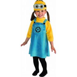 Fantasia Minion Dave Meu Malvado Favorito Infantil Bebê Menina