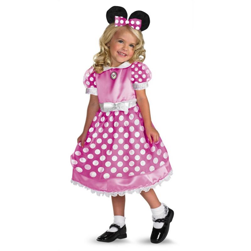 Fantasia Minnie Mouse Infantil Rosa