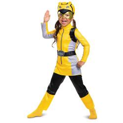 Fantasia Power Rangers Morfador Amarelo Luxo Infantil Bebê