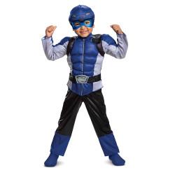 Fantasia Power Rangers Morfador Azul Luxo Infantil Bebê