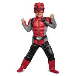 Fantasia Power Rangers Morfador Vermelho Luxo Infantil Bebê