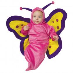 Fantasia Recém Nascido Borboleta Pink