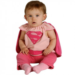 Fantasia Supergirl Super Garota Infantil Recém Nascido