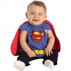 Fantasia SuperMan Super Homem Infantil Recém Nascido Bebê