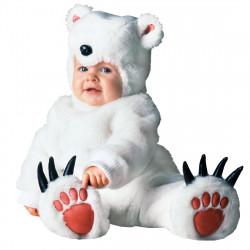 Fantasia Urso Polar Luxo Bebê Parmalat