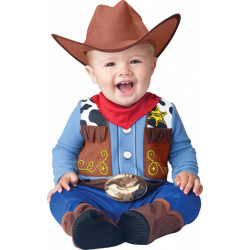 Fantasia Woody Toy Story Bebê Cowboy Luxo