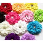 Tiaras de Flores Peonias em Cores Variadas