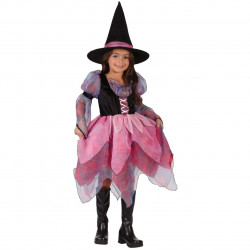 Fantasia Infantil Bruxa Princesa Rosa