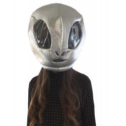 Cabeça Capacete/Máscara Alien Extra Terrestre Pelúcia Luxo