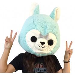 Cabeça Capacete Máscara Alpaca Pelúcia Luxo