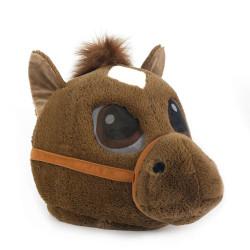 Cabeça Capacete Máscara Cavalo Pelúcia Luxo