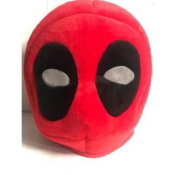 Cabeça Capacete Máscara Deadpool Pelúcia Luxo