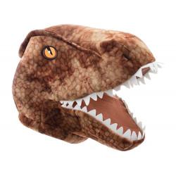 Cabeça Capacete/Máscara Dinossauro T-Rex Pelúcia Luxo