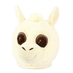 Cabeça Capacete Máscara Llama Pelúcia Luxo