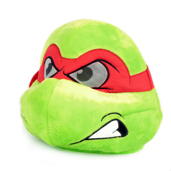 Cabeça Capacete Máscara Tartaruga Ninja Rafael Pelúcia Luxo