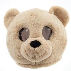 Cabeça Capacete Máscara Urso Pelúcia Luxo