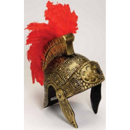 Capacete Medieval Armadura Grego Romano Dourado