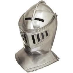 Capacete Medieval de Metal Cavaleiro Branco