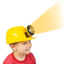 Chapéu Capacete de Engenheiro Construtor Amarelo Infantil Luxo
