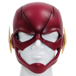 Máscara The Flash Cosplay Luxo Vermelho