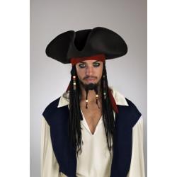 Chapéu com Tranças Jack Sparrow