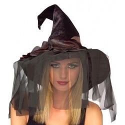 Chapéu de Bruxa Adulto Luxo