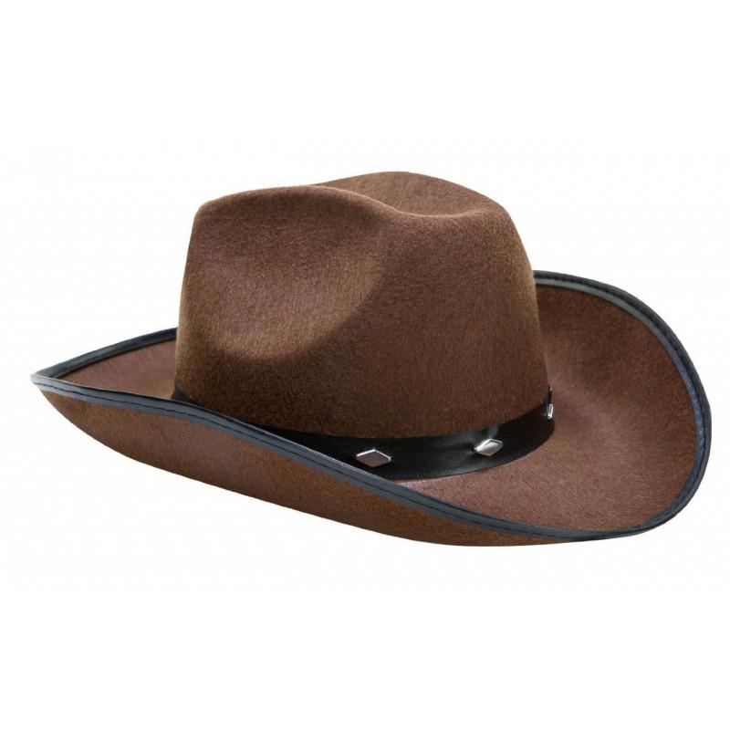 Chapéu de Cowboy Peão de Boiadeiro Marrom 6350f9d8229