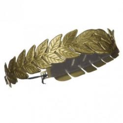 Coroa de Folhas de Louro Dourada Romana