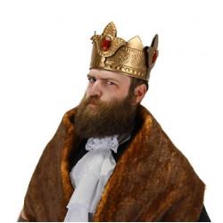 Coroa de Rei com Pedras Dourada