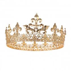 Coroa de Rei com Pedras Luxo Dourada