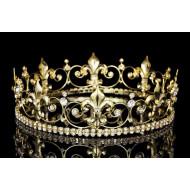 Coroa de Rei Rainha com Pedras Elite Dourada
