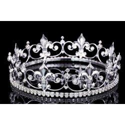 Coroa de Rei Rainha com Pedras Elite Prateada
