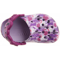 Sapato Crocs Infantil Hello Kitty Lilás