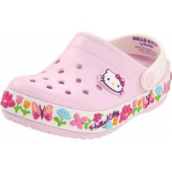 Sapato Crocs Infantil Hello Kitty Rosa e Branco