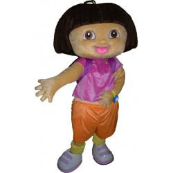 Fantasia Adulto Dora a Exploradora Mascote Luxo