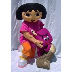 Fantasia Dora a Exploradora Adulto Mascote