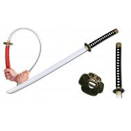 Espada Katana Samurai Ninja de Espuma de borracha Preto