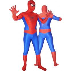 Fantasia Adulto Homem Aranha Spandex Vermelho e Azul 2