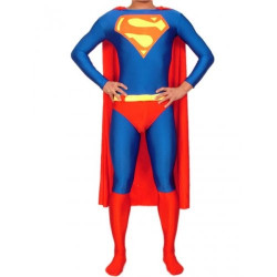 Fantasia Adulto Super Homen Superman Spandex