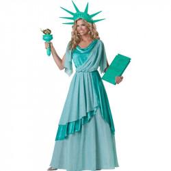Fantasia Estátua da Liberdade Luxo Adulto