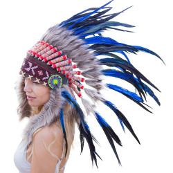 Cocar Indígena Adulto Azuis