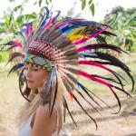 Cocar Indígena Adulto Colorido